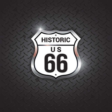 historic: historic route 66 road sign