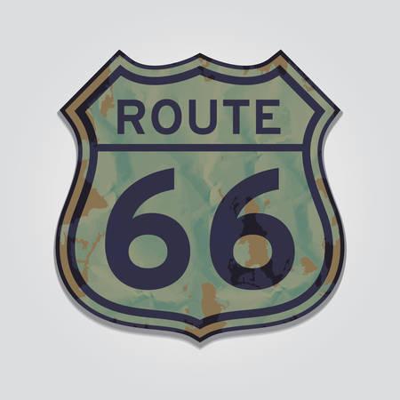 sixty six: route sixty six Illustration
