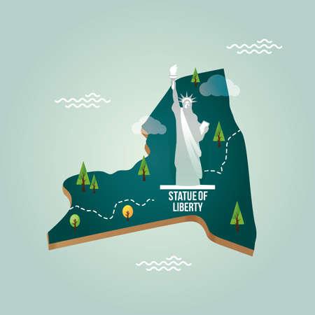 new york state: new york state map