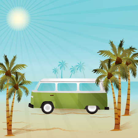 four wheeler: beach van