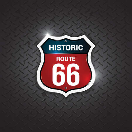 66: historic route 66 road sign