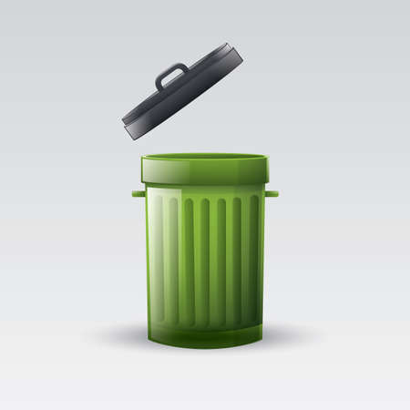 wastage: recycle bin Illustration