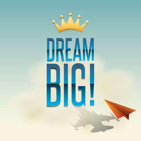 contemplate: dream big Illustration