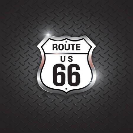 itinéraire signe 66 de route