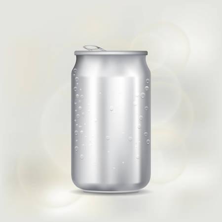 aluminium: blank aluminium can