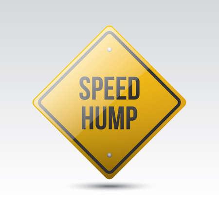 hump: speed hump sign