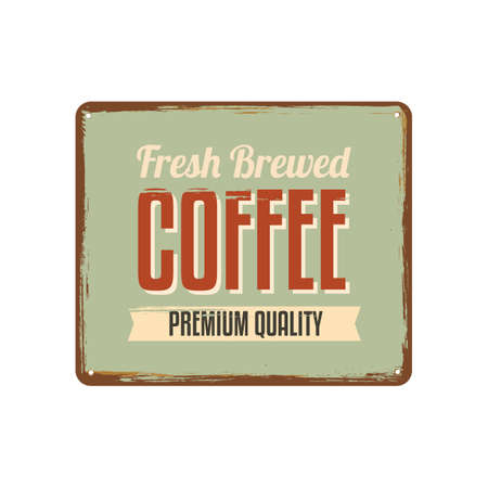 advertising signs: coffee signboard