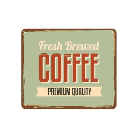 a signboard: coffee signboard