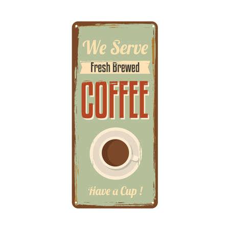 brewed: coffee signboard