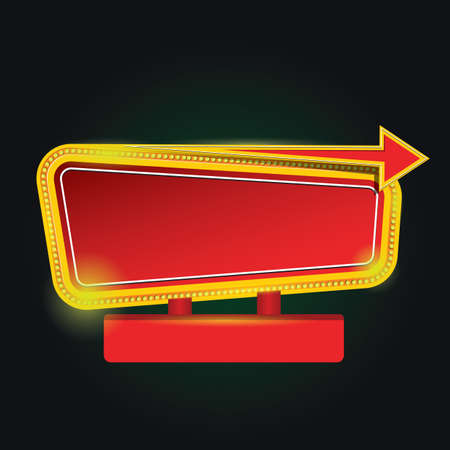 marquee sign: blank marquee sign Illustration