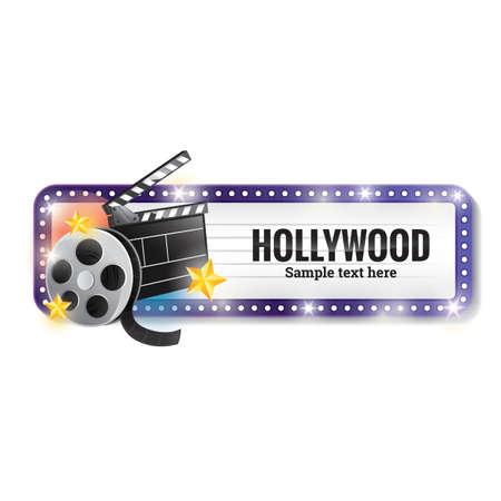 filmstrips: hollywood banner Illustration