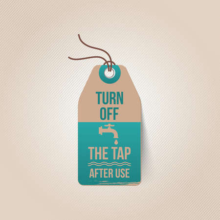 turn off: turn off the tap tag