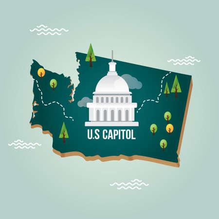 washington state: washington state map
