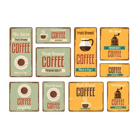 letreros: conjunto de letreros de caf�
