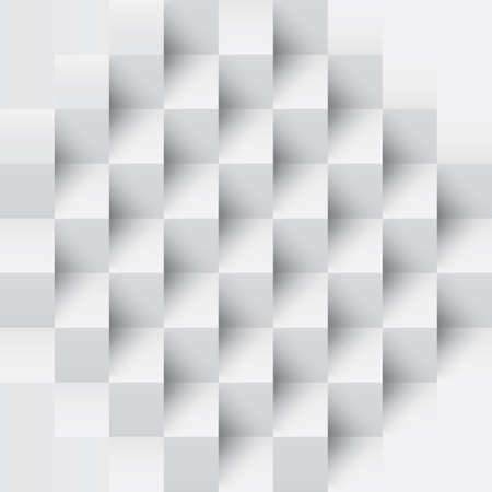 three dimensional shape: square background