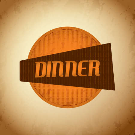 signboard: dinner signboard Illustration