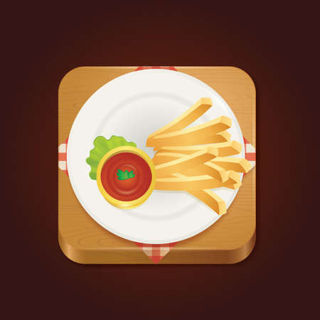 french fries: french fries with sauce
