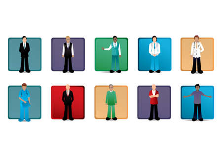 corporate people: set of profession and people Illustration