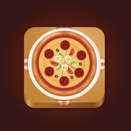 pizza crust: pizza Illustration