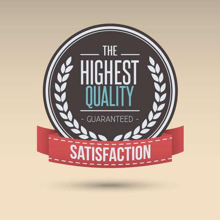 highest quality label Illustration