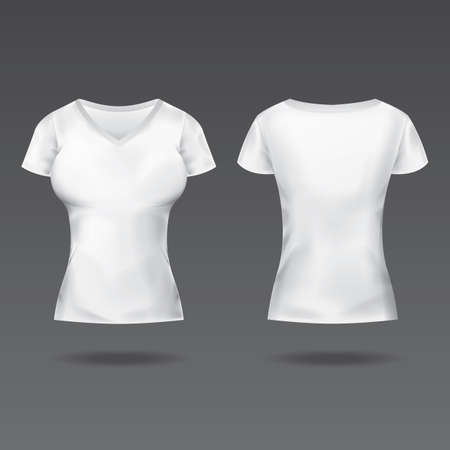 back view: front and back view of womens t-shirt
