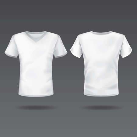 back view: t-front and back view of mens t-shirt