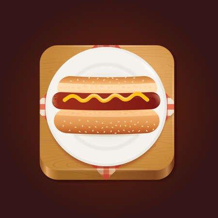 binge: hot dog Illustration
