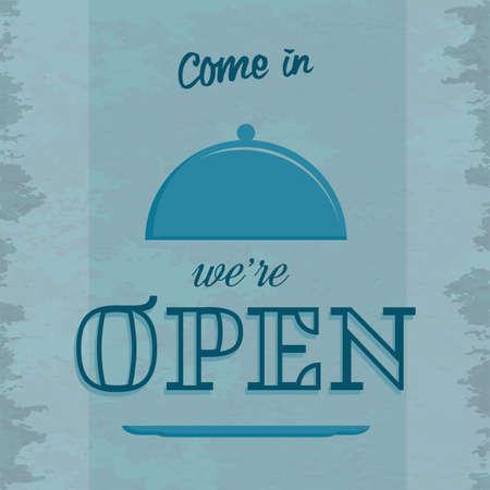 open sign: restaurant open sign