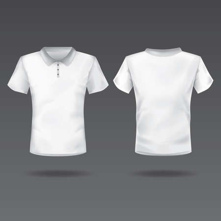 back view: front and back view of mens t-shirt