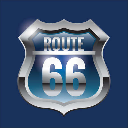 route: route sixty-six Illustration
