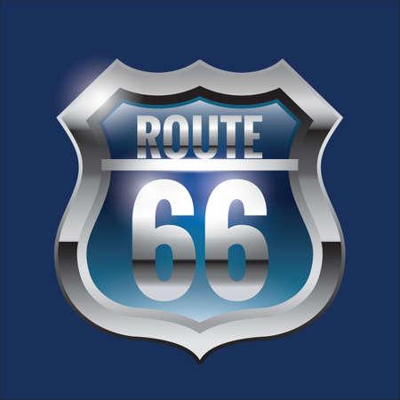 sixty six: route sixty-six Illustration