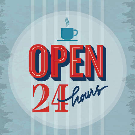 store: open store sign Illustration