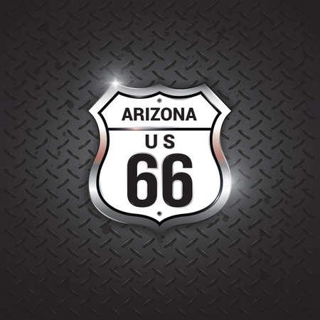 66: arizona 66 road sign