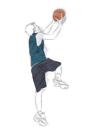 teenage boy: teenage boy playing basketball