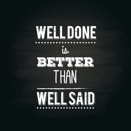 said: motivational quote Illustration
