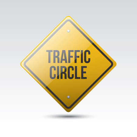 roadsigns: traffic circle sign