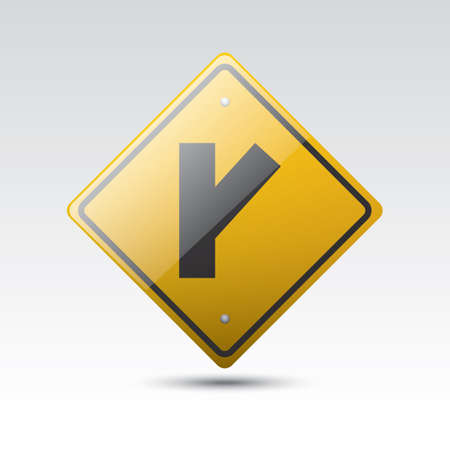 roadsigns: angled side road right sign