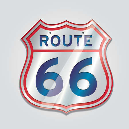 sixty: route sixty six Illustration