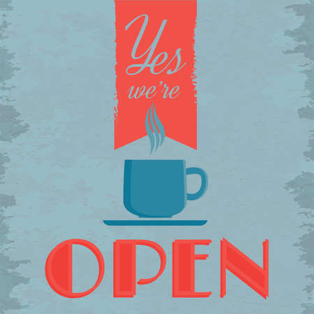 shop sign: coffee shop open sign