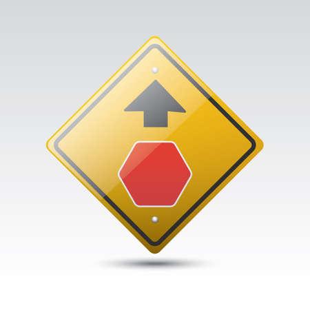 roadsigns: stop ahead road sign