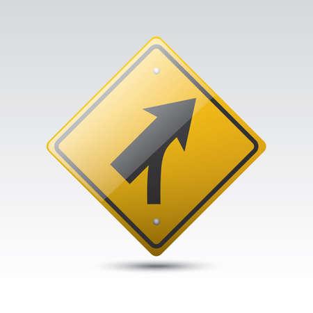 curve road: curve and skewed side road Illustration