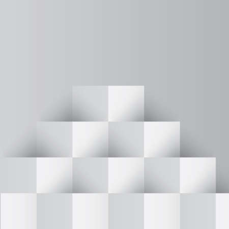 three dimensional shape: cubes background Illustration