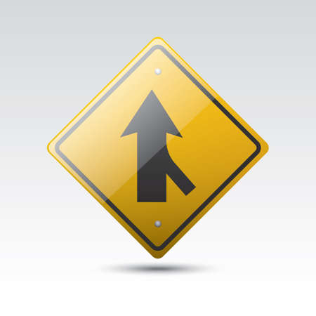 Left Lane Ends And Merge Right Sign Tasmania Stock Photo | Getty ...