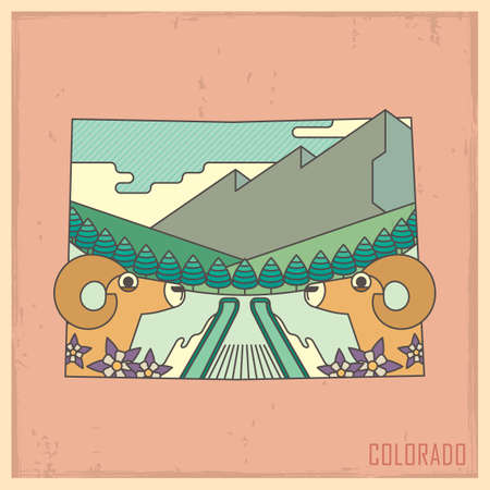 bighorn: colorado state map