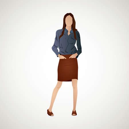 formal wear: woman Illustration