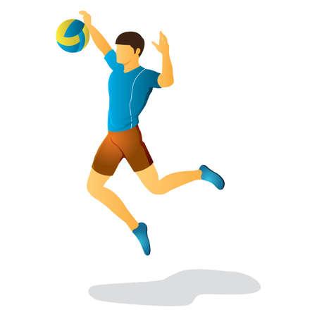 dribbling: man playing volleyball