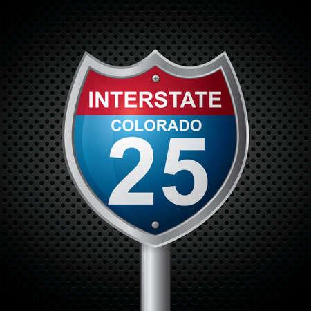 25: colorado 25 route sign