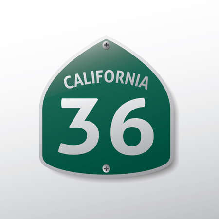 36: california 36 route sign