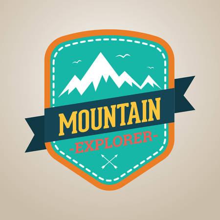 outing: mountain explorer Illustration