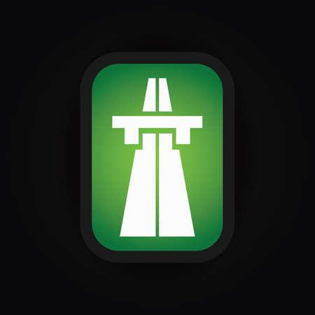 motorway: start of motorway sign